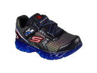 Skechers Boy's Flex-Charge Lighted 90700L-BKRY