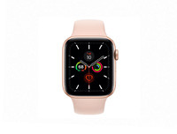 Apple Watch Series 5 - 44mm Gold Aluminium Case with Pink Sand Sport Band - S/M & M/L