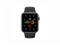 Apple Watch Series 5 -  44mm Space Grey Aluminium Case with Black Sport Band - S/M & M/L