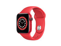 Apple Watch Series 6 (2020) GPS, 40MM Red Aluminum Case with Red Sport - Regular