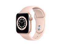 Apple Watch Series 6 GPS, 40MM Gold Aluminum Case With Pink Sand Sport Band - Regular