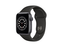 Apple Watch Series 6 GPS, 40MM Space Gray Aluminum Case with Black Sport Band - Regular