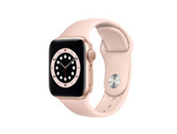 Apple Watch SE (2020) GPS 40MM Gold Aluminum Case with Pink Sand Sport Band - Regular