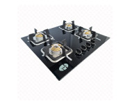 4 Burner Black Tempered Gas Cooker hob - Asian