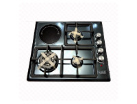 3 Burner + Hotplate Black Stainless Steel Gas cooker/Cooker hob - EURO