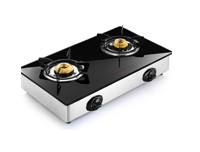 Butterfly Glass Top Stove 2 Burner - Reflection