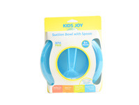 Kids Joy Suction Bowl With Spoon-Blue