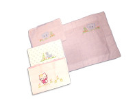 Kids Joy 2 Square Pillow Cases-Pink