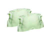 Kids Joy 2 Half Moon Pillow Cases-Green