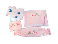 Kids Joy 1 Square Pillow Case 1 Half Moon Case & 2 Roller Pillow Cases-Pink