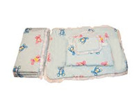 Kids Joy Cot Bumper With Xl Quilt 1 Square Pillow & 2 Roller Pillows