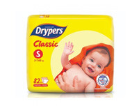 Drypers Classic Dry Small 82pcs