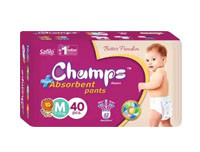 Champs High Absorbent Premium Pant Style Diaper Medium 40pcs