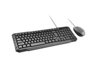 Promate Easykey 3 - Sleek Ergonomic Multimedia Wired Keyboard & Mouse