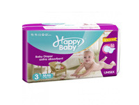 Happy Baby Slim Fit, Weightless Baby Diaper Medium 46pcs