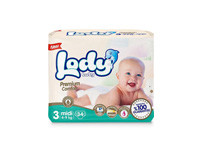 Lody Baby Premium Comfort Diapers Medium 34pcs