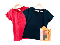 Paata Small Size T-Shirt Value Pack - Red & Black