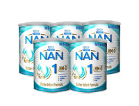 Nestle Pack of 5  NAN HMO 1 Starter Infant Formula with Iron Birth to 6 Months 400g
