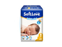 Soft Love Soft Comfort Diapers Small 28pcs