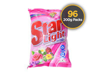 Starlight Detergent Powder Floral 200g 96 Pack