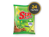 Starlight Detergent Powder Herbal 1kg 24 Pack