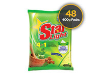 Starlight Detergent Powder Herbal 400g 48 Pack