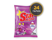 Starlight Detergent Powder Lavender 1kg 24 Pack