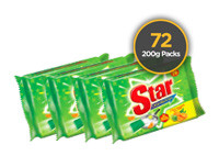 Starlight Dish Wash 200g 72 Pack