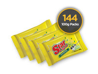 Starlight Dish Wash 100g Yellow 144 Pack