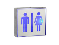 LED Drawing Aluminum Lamp Toilet Sign