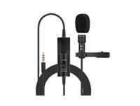 Clip-On Lavalier Mini Audio 3.5mm Collar Condenser Microphone Mobile Phone And All Dslr Camera Model Fb-116