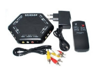 4 Way Port Video Audio Selector Switch With Remote