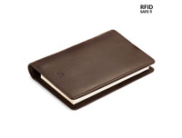 Pennline Wallet All In One with Memo Pad and Pen Brown