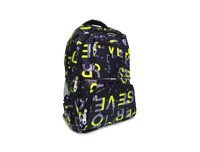 Black Alphabet designed School Bag