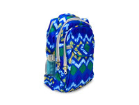 Zig Zag Blue School Bag