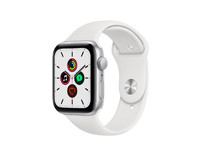 Apple Watch SE (2020) GPS, 44mm Silver Aluminium Case With White Sport Band Regular