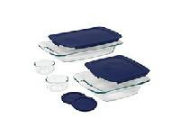 Pyrex 8Pcs Easy Grab BK N STR Set