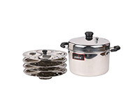 Pristine Stainless Steel Idli Cooker - D 21 cm/ 3.5L