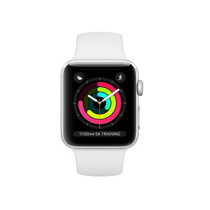 Apple Watch Series 3 -42mm Silver Aluminum Case with White Sport Band: Best Apple Smart Devices for Sale | Best Price in Sri Lanka 2020 1