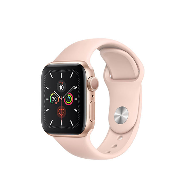 Apple Watch Series 5 40mm Gold Aluminum Case with Pink Sand Sport Band: Best Apple Smart Devices for Sale | Best Price in Sri Lanka 2020 1