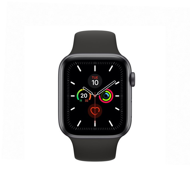 Apple Watch Series 5 -  44mm Space Grey Aluminium Case with Black Sport Band - S/M & M/L: Best Apple Smart Devices for Sale | Best Price in Sri Lanka 2020 1