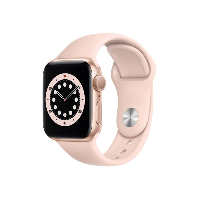 Apple Watch Series 6 GPS, 40MM Gold Aluminum Case With Pink Sand Sport Band - Regular: Best Apple Smart Devices for Sale | Best Price in Sri Lanka 2020 1