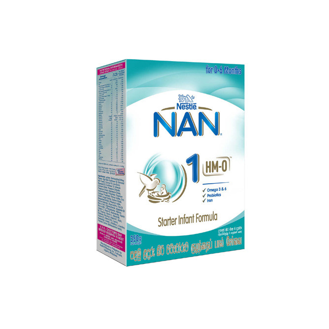 Nestlé NAN 1 HMO Starter Infant Formula with Iron –Birth to 6 months, 350g: Best Nestle Daily Essential for Sale | Best Price in Sri Lanka 2021 1