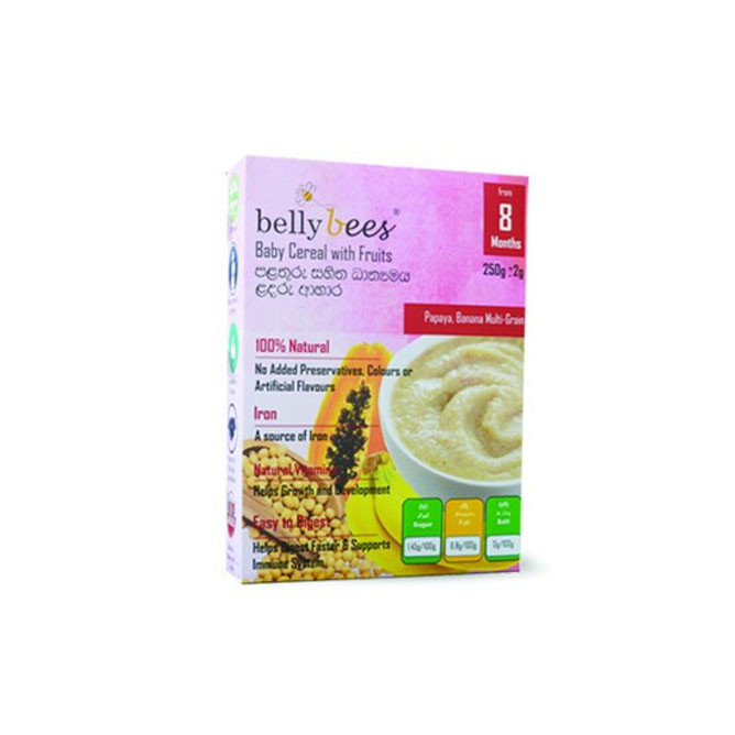 Bellybees Cereal With Fruits 250g 8m+: Best Bellybees Groceries for Sale | Best Price in Sri Lanka 2021 1