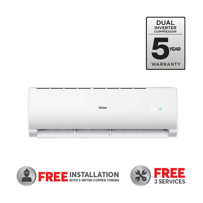 Haier 24000BTU R32 Fix Speed Air Conditioner: Best  Haier A/C's & Air Coolers for Sale | Best Price in Sri Lanka 2021 1