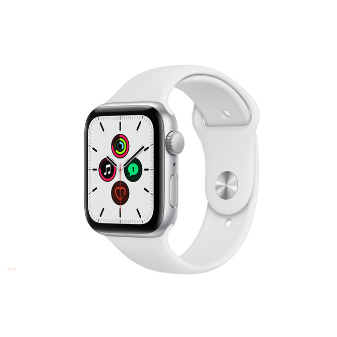 Apple Watch SE (2020) GPS, 44mm Silver Aluminium Case With White Sport Band Regular: Best Apple Smart Devices for Sale   Best Price in Sri Lanka 2021 1