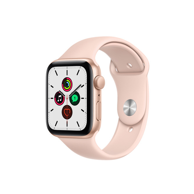 Apple Watch SE (2020) GPS, 44mm Silver Aluminium Case With Pink Sand Sport Band Regular: Best Apple Smart Devices for Sale | Best Price in Sri Lanka 2021 1