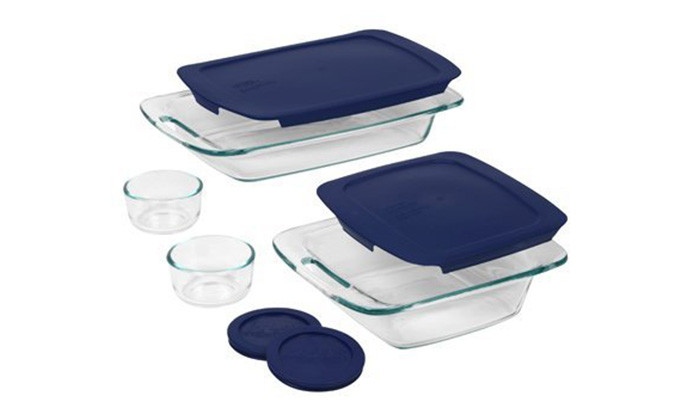 Pyrex 8Pcs Easy Grab BK N STR Set: Best Pyrex Tableware  & Dinnerware for Sale | Best Price in Sri Lanka 2020 1