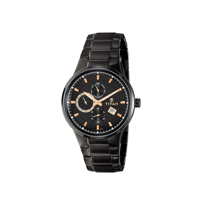 TITAN Analog Black Dial Men's Watch - 9472NM01: Best Titan Men's Accessories for Sale | Best Price in Sri Lanka 2021 1